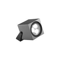 Surface mounted spotlight / outdoor / LED / square
