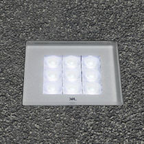Recessed floor light fixture / LED / square / outdoor