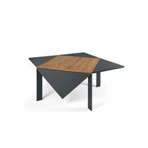 Contemporary dining table / wooden / square / extending