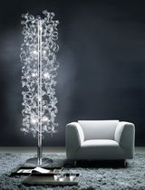 Floor-standing lamp / contemporary / glass / halogen