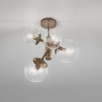 Contemporary ceiling light / metal / polycarbonate / halogen