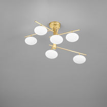 Contemporary ceiling light / glass / metal / halogen