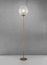 Floor-standing lamp / contemporary / metal / polycarbonate