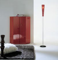 Floor-standing lamp / contemporary / glass