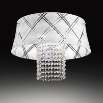 Contemporary ceiling light / round / glass / incandescent