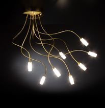 Contemporary ceiling light / metal / halogen / LED