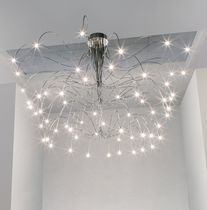 Contemporary ceiling light / metal / halogen