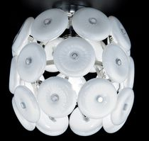 Contemporary ceiling light / crystal / incandescent