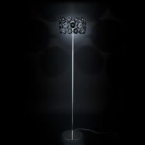 Floor-standing lamp / contemporary / glass / metal