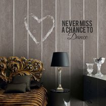 Contemporary wallpaper / vintage / striped / text
