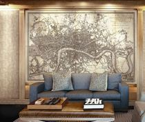 Contemporary wallpaper / map / photo / sand