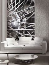 Contemporary wallpaper / patterned / photo / metal look