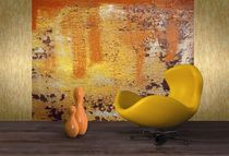 Contemporary wallpaper / patterned / printed / orange