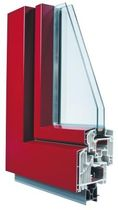 Casement window / aluminum / PVC / double-glazed