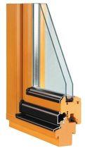 Casement window / wooden / double-glazed