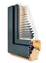 Casement window / wooden / aluminum / triple-glazed