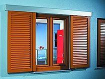 Sliding shutters / aluminum / window / louvered