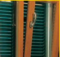 Folding shutters / aluminum / window