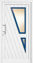Entry door / swing / aluminum / semi-glazed