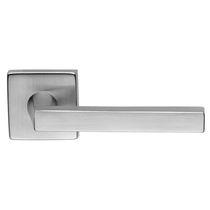 Door handle / zamak / contemporary / chrome