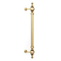 Door pull handle / brass / traditional / gold finish