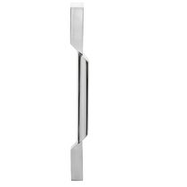 Door pull handle / stainless steel / contemporary / chrome