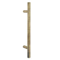 Door pull handle / brass / contemporary / chrome