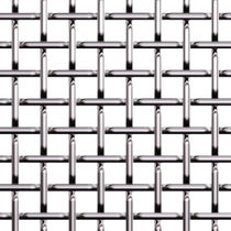 Facade woven wire fabric / metal / square mesh / elongated mesh