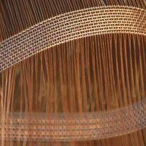 Partition wall woven wire fabric / stainless steel / copper / elongated mesh