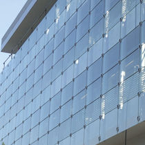 Stainless steel curtain wall fastening system / steel