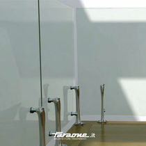 Glass railing / stainless steel / steel / glass panel