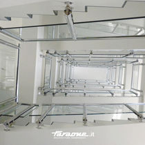 Glass railing / stainless steel / glass panel / outdoor