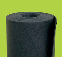 Roll sound-absorbing underlay / rubber / rubber
