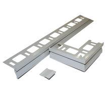 Rectangular roof gutter / pre-coated aluminum