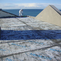 Elastomer waterproofing system / for balconies / flat roof / liquid