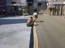 Polyethylene waterproofing membrane / clay / for walls / foundation
