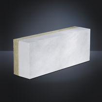 Cellular concrete block / for walls / with integrated insulation / rectangular