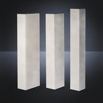 Lightweight concrete cladding / smooth / panel