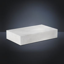 Cellular concrete block / for foundations / rectangular