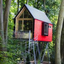 Prefab building / for hotels / solid wood / wooden frame