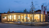 Prefab building / for offices / wooden / wooden frame