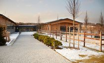 Prefab building / for sports facilities / wooden / wooden frame