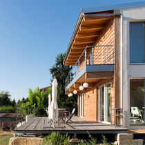 Individual house / prefab / contemporary / wooden frame