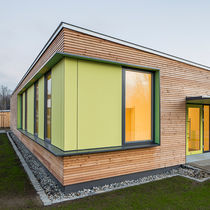 Prefab building / nursery / solid wood / wooden frame