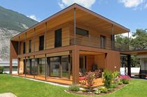 Cross-laminated structural panel / solid / for timber frame homes