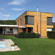 Wooden cladding / profiled / strip / wood look