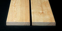Larch deck boards / wood look / residential