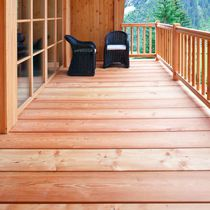 Larch deck boards / grooved