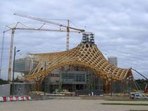Wooden roof framing / curved / prefab