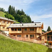 Prefab building / for hotels / solid wood / larch